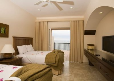 queen bed room Pueblo Bonito Montecristo Estates offers spectacular ocean views of the pacific ocean in cabo san lucas, overlooking quivira golf club