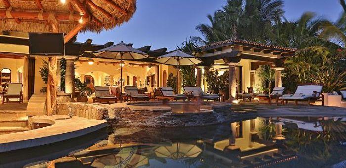Casa Sahuaro en Cabo del Sol Luxury Rental Villas in Cabo San Lucas evening pool