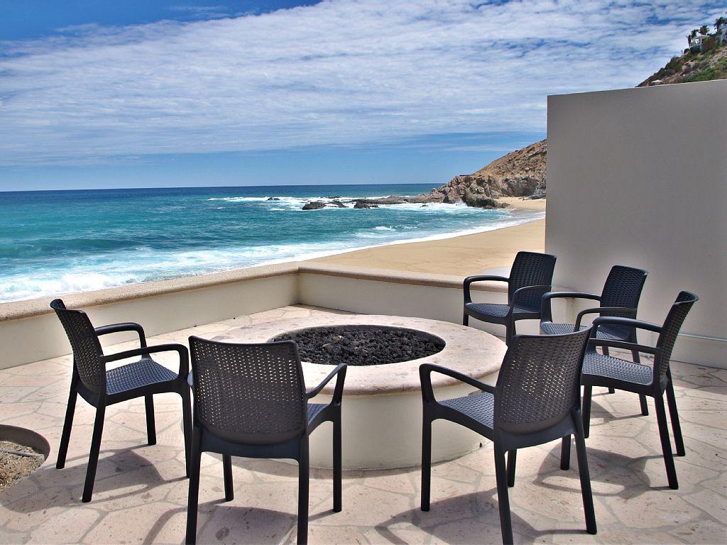 casa del mar palmilla los cabos luxury oceanfront rental villa fire pit