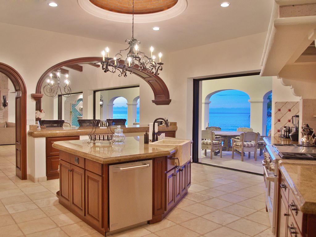 casa del mar palmilla los cabos luxury oceanfront rental villa kitchen